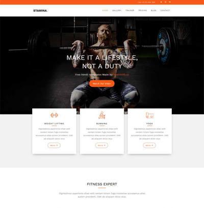 宽屏响应式健身俱乐部网站html5