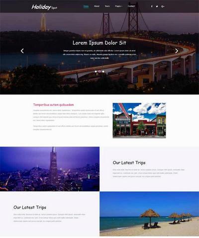 假日旅游服务公司html静态模板
