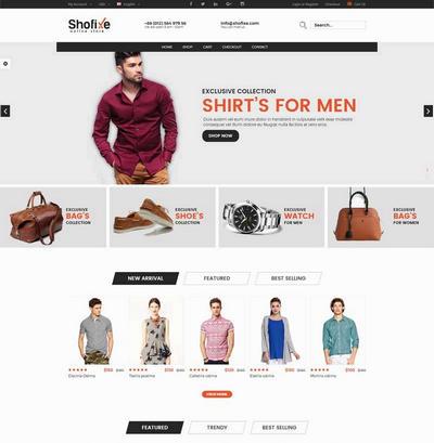 时尚品牌服装箱包购物商城模板html下载