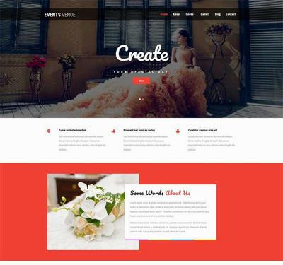 简洁婚礼策划公司html网页模板