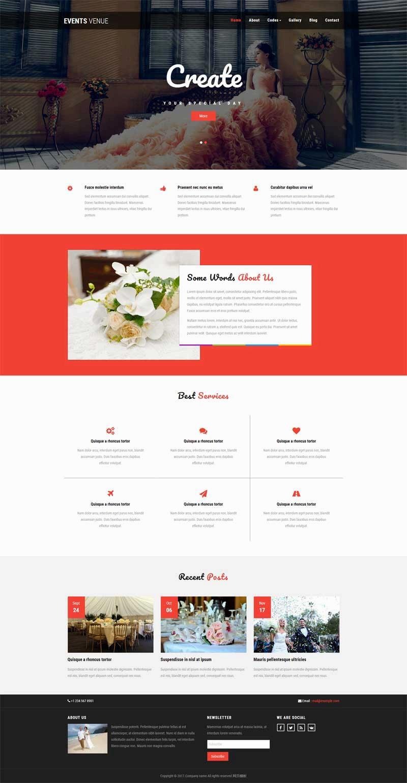 黑色简洁的婚礼策划公司网页模板