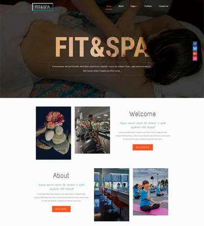 简洁健身瑜伽俱乐部网站模板html整站