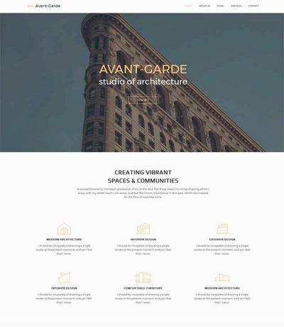大气建筑设计公司网站静态html模板