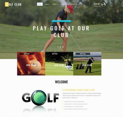 宽屏高尔夫运动比赛网站模板html下载