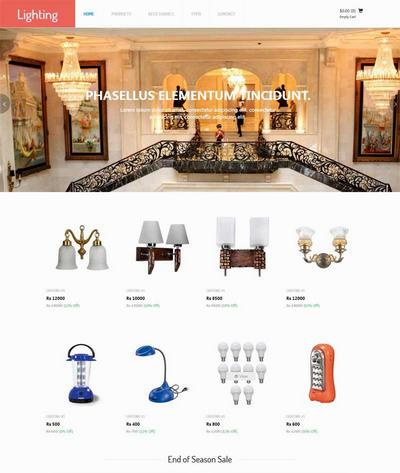 大气灯具装饰公司网站html模板