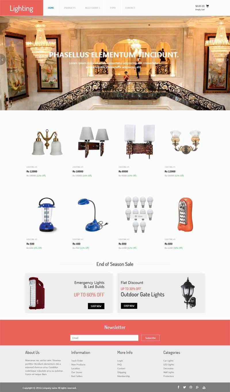 大气的灯具装饰公司网站html模板