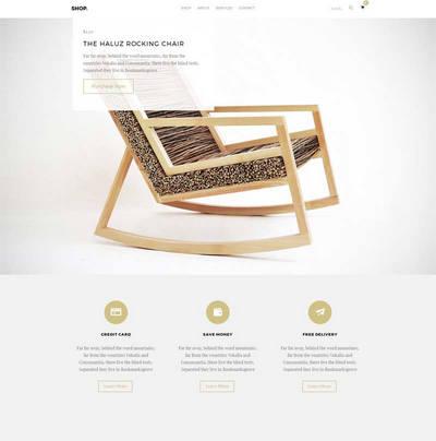简单大气木家具公司展示html网站模板