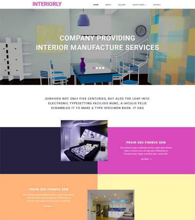 简单室内装饰设计公司网站静态模板下载