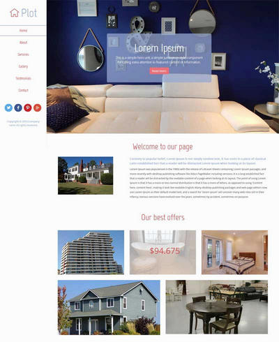 简单实用房屋出租公司网站html模板
