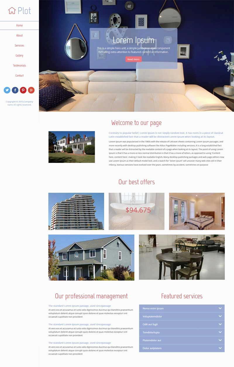 简单实用的房屋出租公司网站html模板