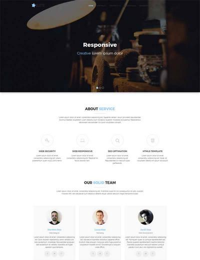 简洁大气平面广告公司网站模板html源码