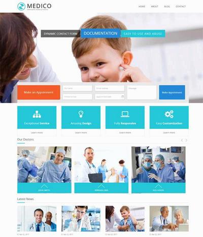 国外私立医院网站模板html源码