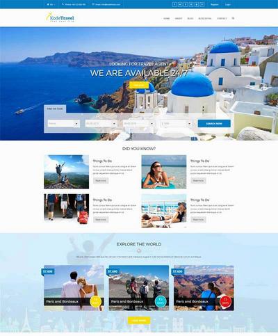 网上预订旅游html整站网站模板