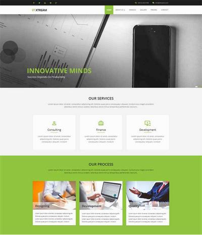 宽屏商业咨询公司html静态网页模板