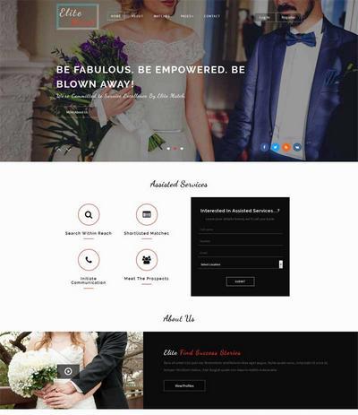 实用婚纱摄影官网html静态模板下载