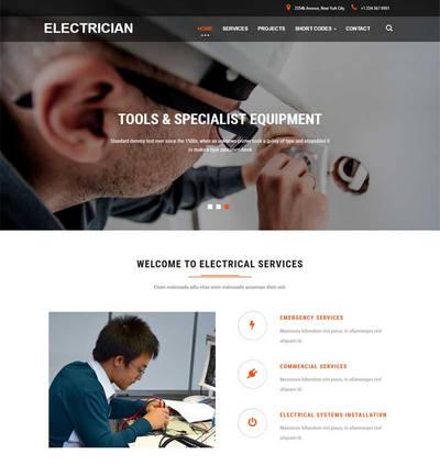简洁电路电工维修公司网站静态模板