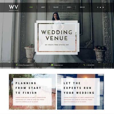 宽屏婚纱摄影公司网页模板下载