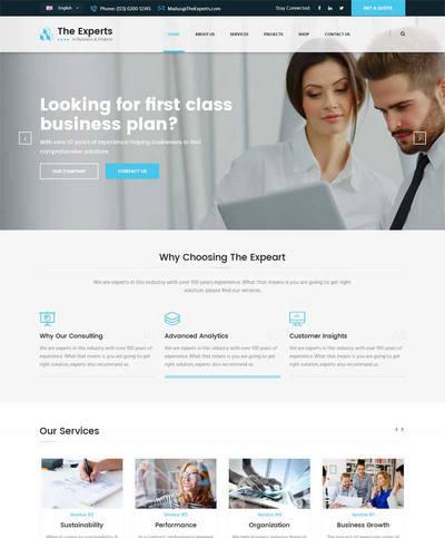 蓝色大气商业金融投资公司网站模板html整站