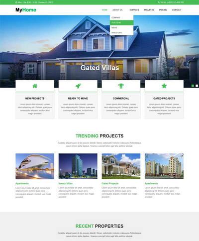 大气房地产建筑公司网站静态模板