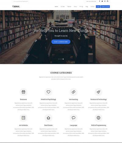 html5简洁大气国外儿童教育网站动画模板