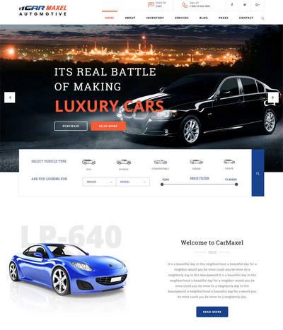 html5响应式大气的汽车4s店公司网站模板