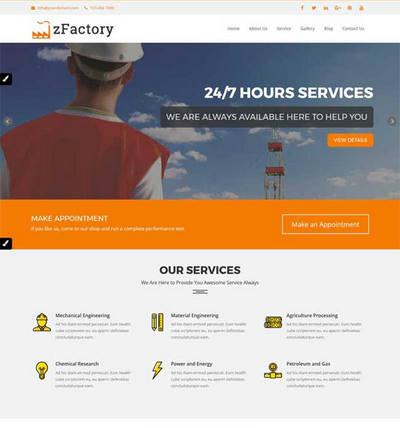 大气建筑工程公司html整站网站模板