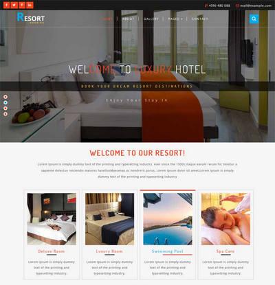 大气国外旅游度假酒店预订网站模