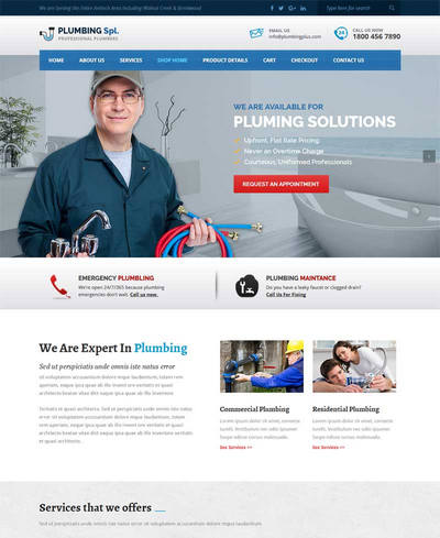 大气室内管道装修公司html整站网