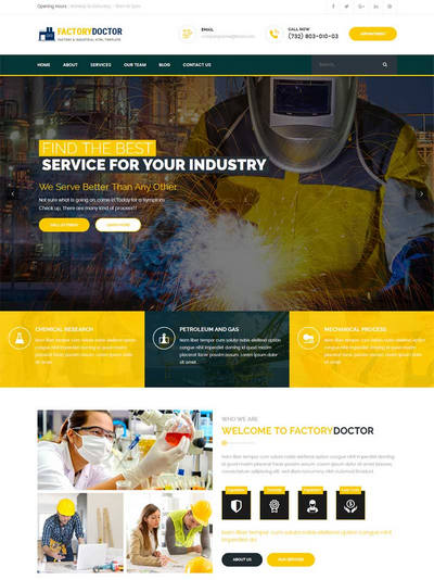 大气工业生产行业网站模板html下