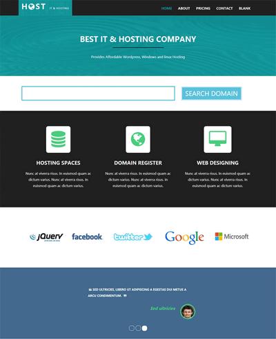 简单虚拟空间租赁IT公司网站模板