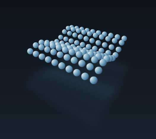 3D圆点波浪动画特效