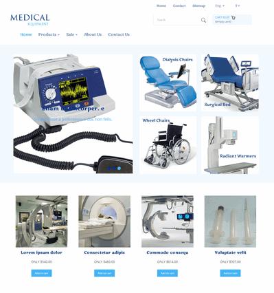 简单医疗器械公司网站静态模板