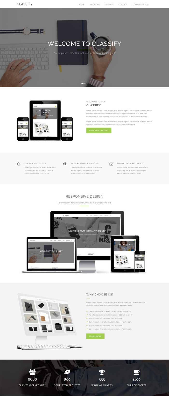 简洁宽屏的设计印刷公司网站模板下载