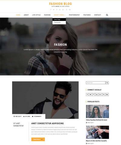 宽屏生活时尚服装品牌公司html网站模板