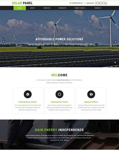 大气太阳能电力公司网站html模板