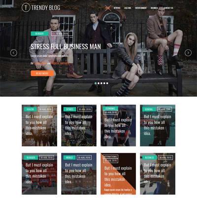 时尚生活新闻资讯网站模板html源码