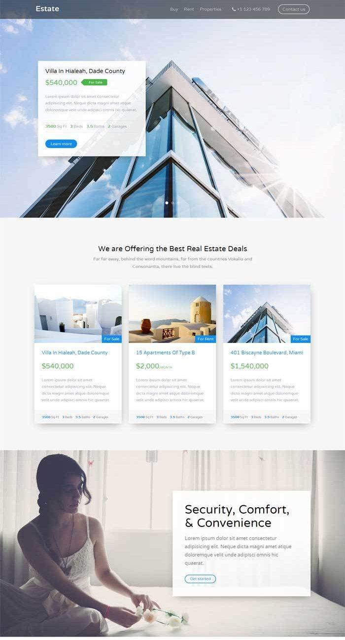 html5大气的国外旅游酒店介绍网站模板
