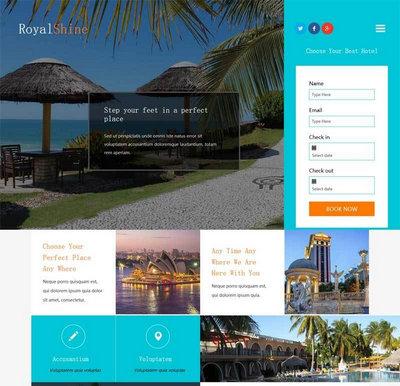 html5旅游度假酒店预订网站模板