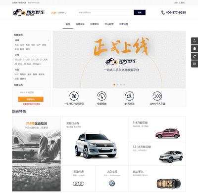 大气二手车买卖交易平台html网站