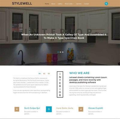 简洁家居装饰公司网站静态html模