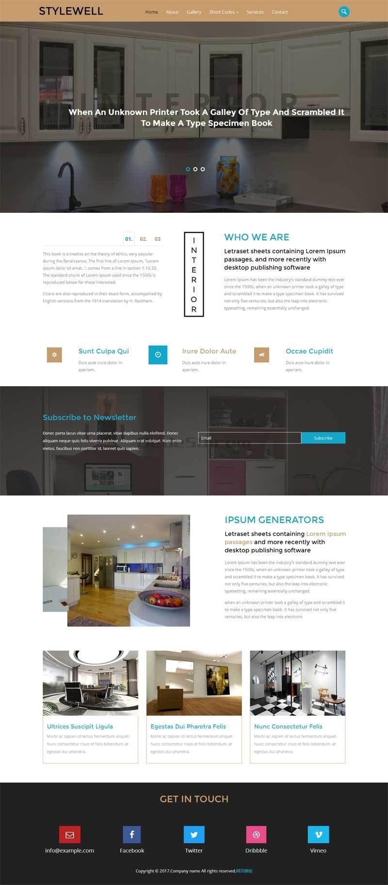 简洁的家居装饰公司网站静态模板