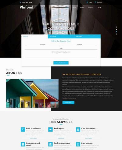 大气房屋建筑设计公司html网站模板下载
