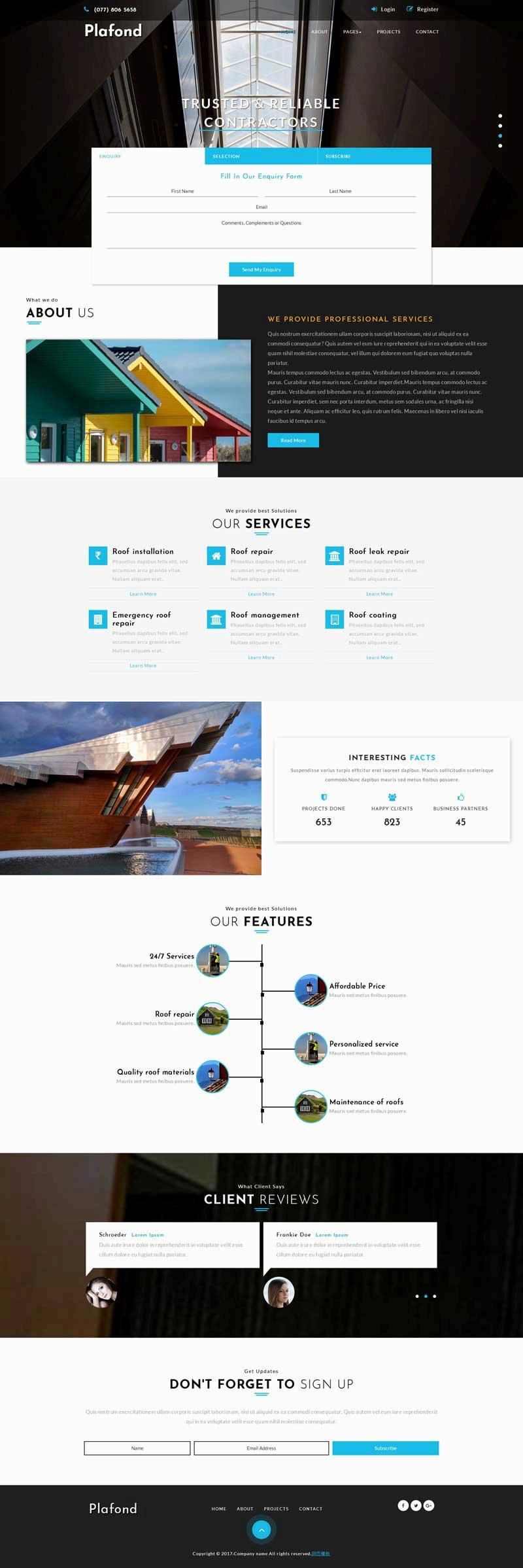 大气的房屋建筑设计公司网站模板下载