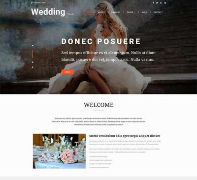 大气婚礼策划服务公司html网页模板下载
