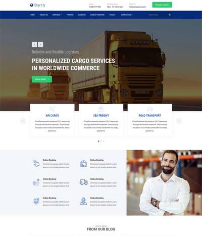 大气货运物流公司网站html模板