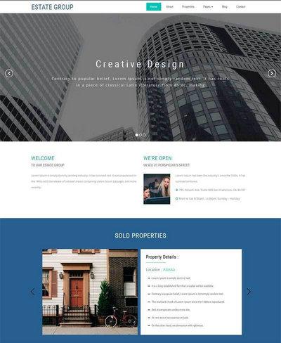 大气的房屋建筑设计公司网站模板html下载
