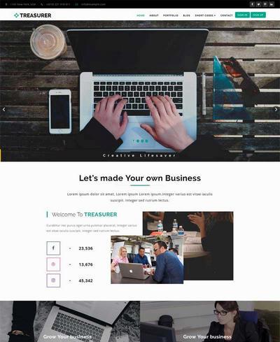 大气的商务咨询合作公司网站模板html整站
