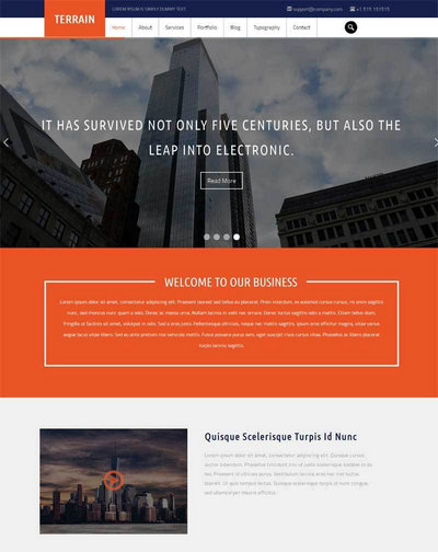 宽屏大气的商务服务公司网站模板
