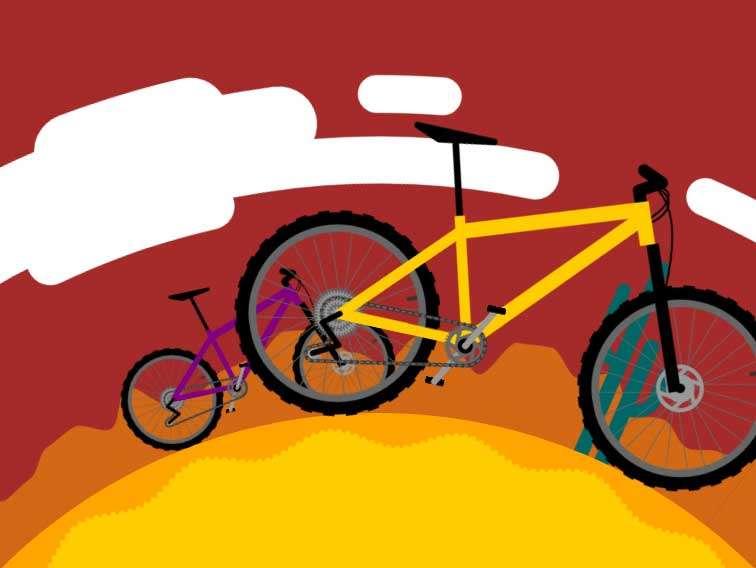 千里走单骑自行车svg特效