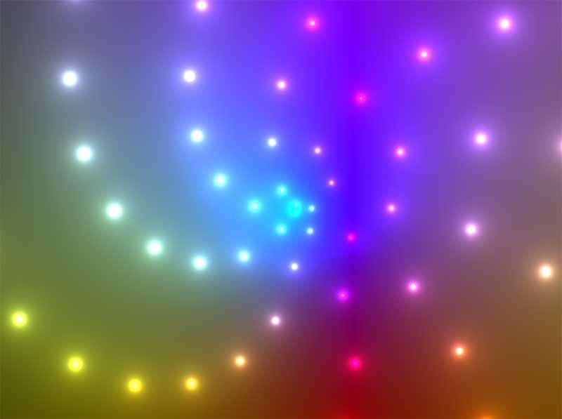 酷炫3D霓虹灯粒子螺旋动画特效